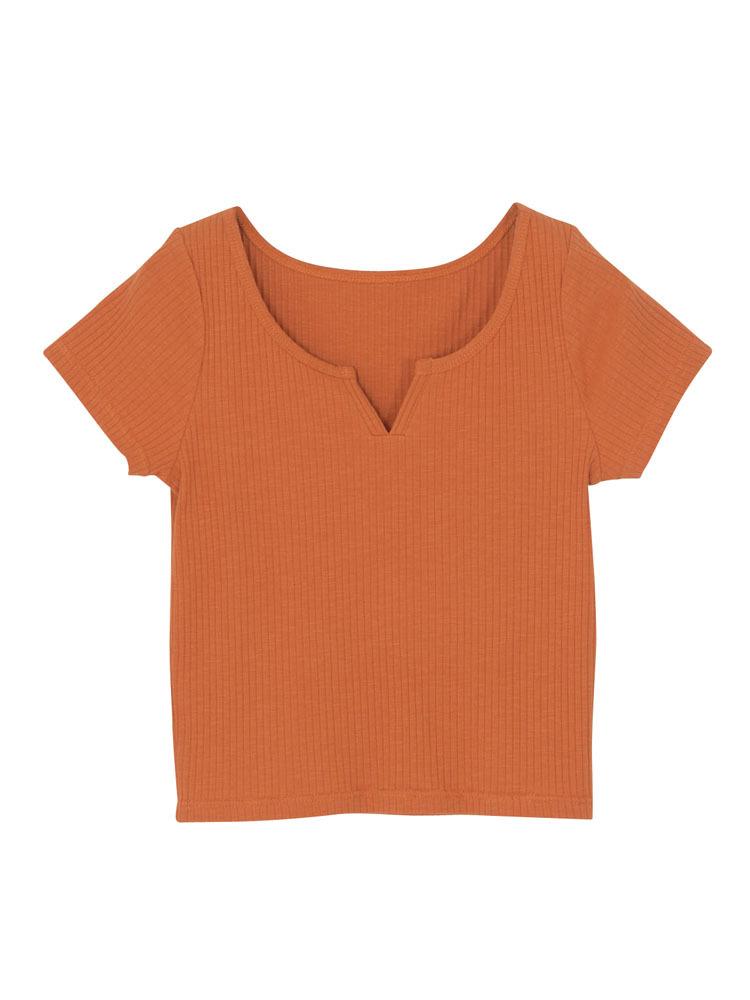 VカットTシャツ
