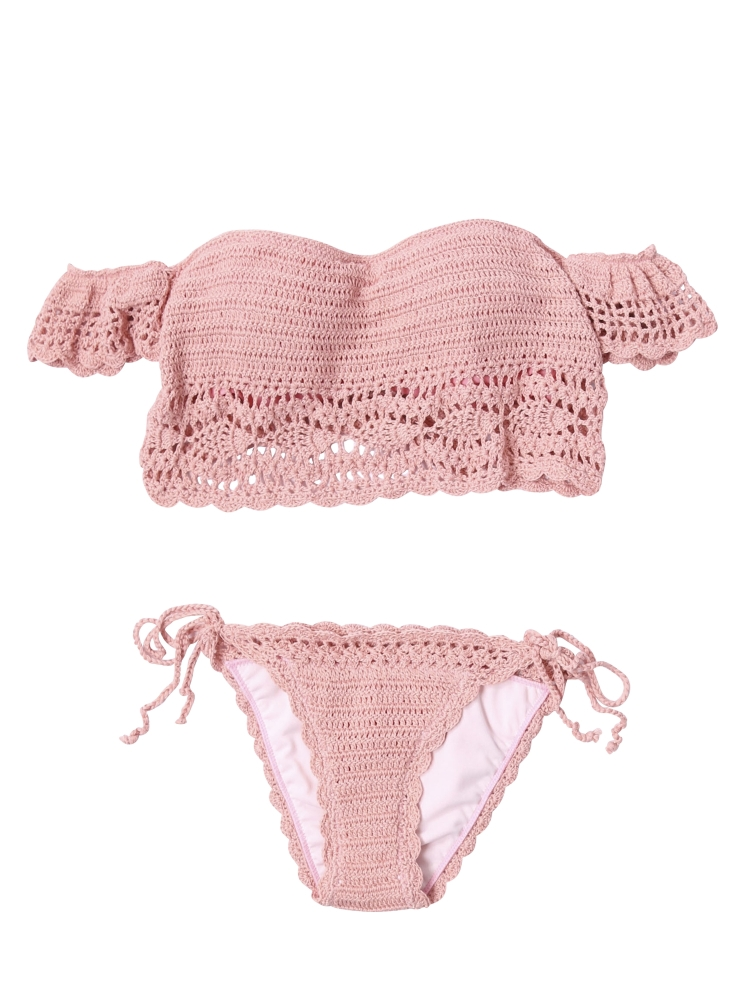 crochet offshoulder bikini